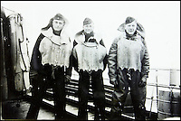 BNPS.co.uk (01202 558833)<br /> Pic: AlexanderHistoricalAuctions/BNPS<br /> <br /> Three crewmen with their life jackets on.<br /> <br /> Fascinating images which provide a snapshot of life on a German U-Boat have been unearthed.<br /> <br /> Interestingly, the photographs give us an insight into joyous occasions on the U-976 destroyer including alcohol fuelled parties and gatherings in the mess hall.<br /> <br /> The photo album which was collated by First Officer Lieutenant Wilhelm Hinrichs has now emerged for auction and is tipped to sell for &pound;1,200.<br /> <br /> The U-976 was sunk on March 25, 1944, just a few months before the Normandy landings, near St Nazaire in France by gunfire from two British Mosquito fighter-bombers.