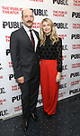 """Corey Stoll and Nadia Bowers during the Off-Broadway Opening Night performance party for """"Plenty""""  at the Public Theatre on October 20, 2016 in New York City."""