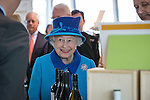 © Joel Goodman - 07973 332324 . No syndication permitted . 14/11/2013 . Manchester , UK . The Queen on tour around the building . Queen Elizabeth II and the Duke of Edinburgh visit the Coop building at 1 Angel Square , Manchester , this morning ( 14th November 2013 ) . Photo credit : Joel Goodman