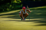 STILLWATER, OK - MAY 23: Angelica Moresco of Alabama lines up a putt during the Division I Women's Golf Team Match Play Championship held at the Karsten Creek Golf Club on May 23, 2018 in Stillwater, Oklahoma. (Photo by Shane Bevel/NCAA Photos via Getty Images)