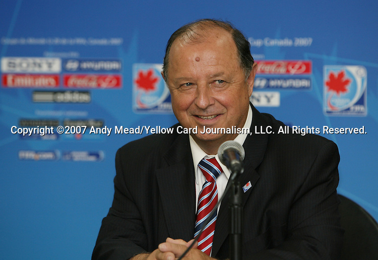 30 June 2007: Francis Millien, head of Montreal's Local Organizing Committee. At Le Stade Olympique in Montreal, Quebec, Canada. Poland's Under-20 Men's National Team defeated Brazil's Under-20 Men's National Team 1-0 in a Group D opening round match during the FIFA U-20 World Cup Canada 2007 tournament.
