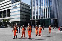 Nederland Amsterdam - 2018 . Bouwvakkers op de Zuidas. Foto Berlinda van Dam / Hollandse Hoogte