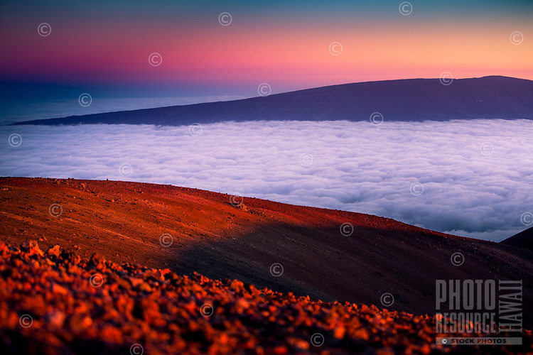 Mauna Kea Sunset, Big Island of Hawai'i.