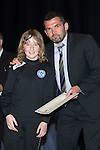 St Johnstone FC Youth Academy Presentation Night at Perth Concert Hall..21.04.14<br /> Callum Davidson presents to Peter Nelson<br /> Picture by Graeme Hart.<br /> Copyright Perthshire Picture Agency<br /> Tel: 01738 623350  Mobile: 07990 594431