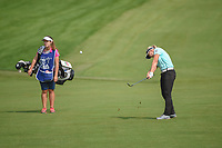 Brooke M. Henderson (CAN) hits her approach shot on 1 during round 4 of the 2018 KPMG Women's PGA Championship, Kemper Lakes Golf Club, at Kildeer, Illinois, USA. 7/1/2018.<br /> Picture: Golffile | Ken Murray<br /> <br /> All photo usage must carry mandatory copyright credit (&copy; Golffile | Ken Murray)