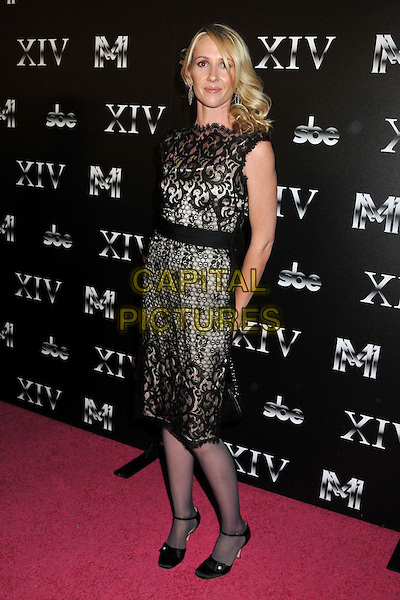 ALEXANDRA LEIGHTON.XIV Restaurant Grand Opening Party - Arrivals at XIV on Sunset Blvd., West Hollywood, California, USA..October 14th, 2008.full length black lace sleeveless dress.CAP/ADM/BP.©Byron Purvis/AdMedia/Capital Pictures.