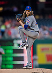 28 April 2017: New York Mets starting pitcher Jacob deGrom on the mound against the Washington Nationals at Nationals Park in Washington, DC. The Mets defeated the Nationals 7-5 to take the first game of their 3-game weekend series. Mandatory Credit: Ed Wolfstein Photo *** RAW (NEF) Image File Available ***