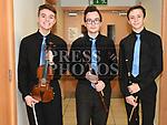 John Bride, Declan McCabe and David Maxwell at the Comhaltas Trad na Samhna show held in the Barbican Centre. Photo:Colin Bell/pressphotos.ie