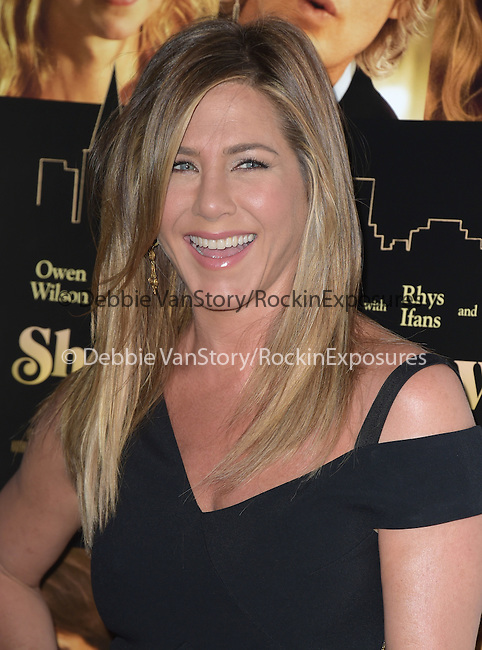 Jennifer Aniston Theroux  attends The Lionsgate Premiere of She's Funny That Way held at The Harmony Gold Theatre  in Los Angeles, California on August 19,2015                                                                               © 2015 Hollywood Press Agency