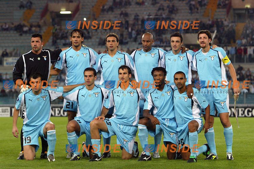 La Formazione della Lazio<br /> Coppa Uefa 2004/2005<br /> Lazio Villarreal<br /> Foto Andrea Staccioli Insidefoto