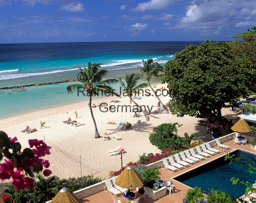 BRB, Barbados, Hastings: Coconut Court Beach Hotel mit Pool und Strand an der Suedkuste | BRB, Barbados, Hastings: Coconut Court Beach Hotel with pool and beach at the south coast
