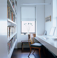 The apartment incorporates a small home office which has spectacular views of the city from two windows