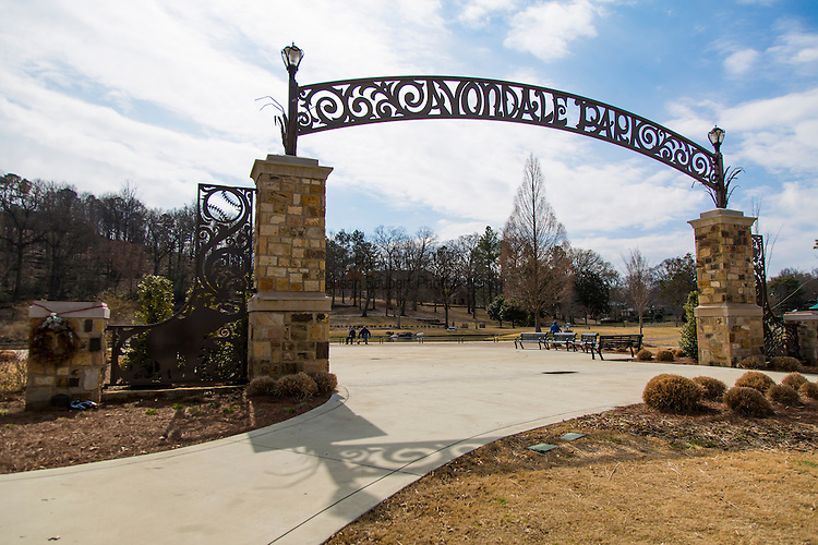 The Avondale Park, formerly a zoo, in the Avondale neighborhood, Birmingham, Alabama