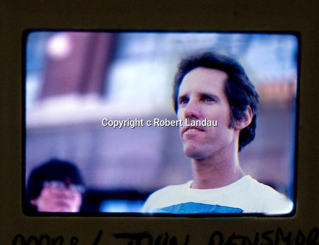 John Densmore of the doors wathcing Ray Manzarek direct the video of LA Woman in 1984