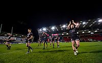 Picture by Allan McKenzie/SWpix.com - 26/04/2018 - Rugby League - Betfred Super League - Salford Red Devils v St Helens - AJ Bell Stadium, Salford, England - St Helens thanks their fans for their support after victory over Salford.