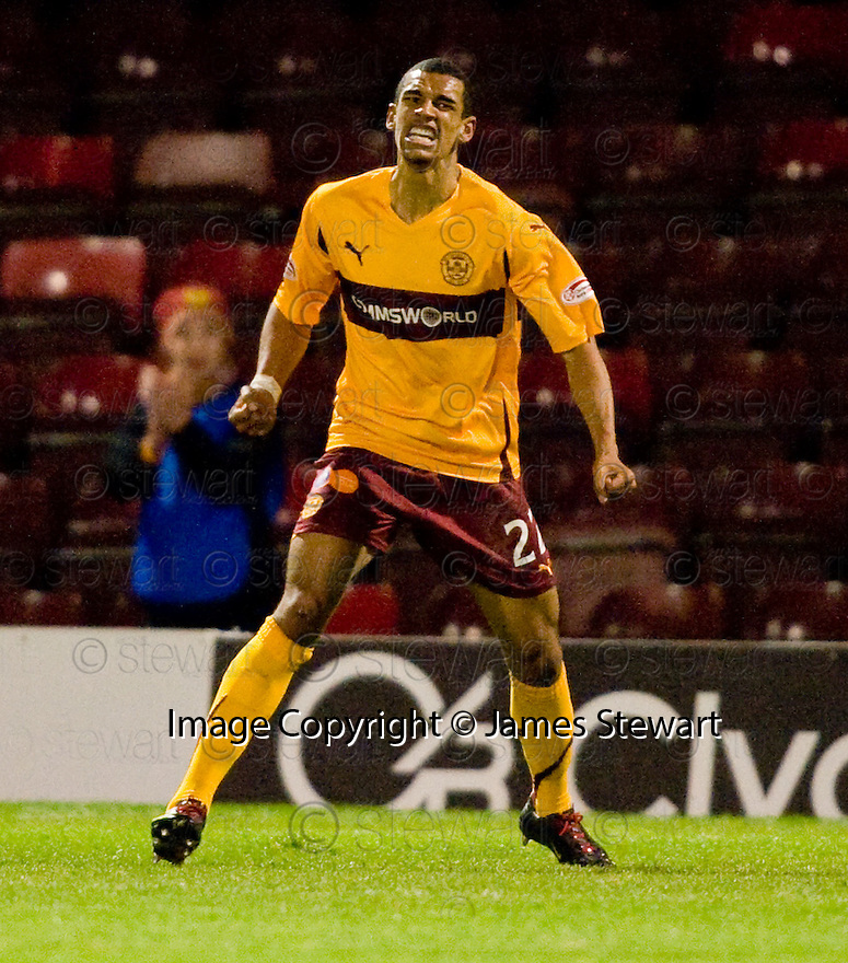 10/11/2010   Copyright  Pic : James Stewart.sct_jspa004_motherwell_v_st_johnstone  .::  NICK BLACKMAN CELEBRATES AFTER HE  SCORES HIS SECOND  ::.James Stewart Photography 19 Carronlea Drive, Falkirk. FK2 8DN      Vat Reg No. 607 6932 25.Telephone      : +44 (0)1324 570291 .Mobile              : +44 (0)7721 416997.E-mail  :  jim@jspa.co.uk.If you require further information then contact Jim Stewart on any of the numbers above.........
