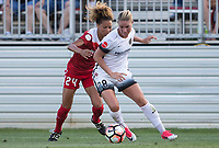Boyds, MD. - Saturday, June 24 2017:  Estelle Johnson, Amandine Henry during a regular season National Women's Soccer League (NWSL) match between the Washington Spirit and the Portland Thorns FC at Maureen Hendricks Field, Maryland SoccerPlex.<br />  The Washington Spirit defeated the Portland Thorns FC 1-0.