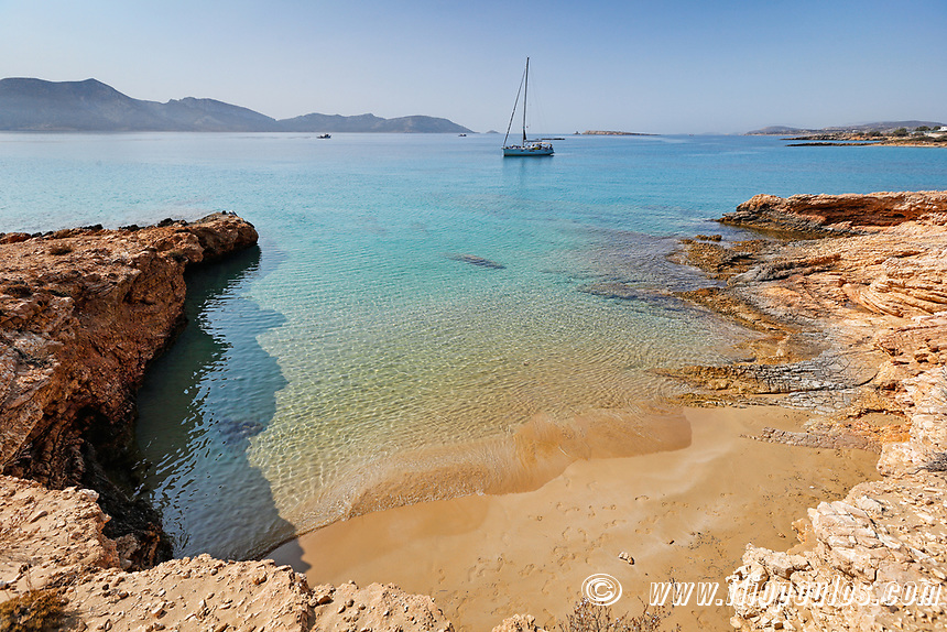 Geranos beach of Koufonissi island in Cyclades, Greece