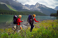 Skyline Trail, Jasper National Park, Alberta, Canada, July 2006. Maligne Lake is the ceterpoint for the Skyline Trail and Maligne Pass Trail. Trekking the Skyline Trail takes you over mountain ridges and through green alpine meadows offering spectaculair mountain landscapes and lots of wildlife. Photo by Frits Meyst/Adventure4ever.com.
