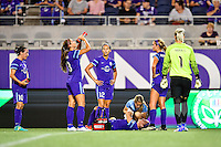 Orlando, FL - Saturday September 10, 2016: Josee Belanger during a regular season National Women's Soccer League (NWSL) match between the Orlando Pride and Sky Blue FC at Camping World Stadium.