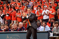 Virginia head coach Tony Bennett during an NCAA basketball game Saturday Feb. 7, 2015, in Charlottesville, Va. Virginia defeated Louisville  52-47. (Photo/Andrew Shurtleff)