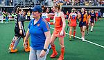 Den Bosch  -  bondscoach Alyson Annan (Ned)   na  de Pro League hockeywedstrijd dames, Nederland-Belgie (2-0).     COPYRIGHT KOEN SUYK