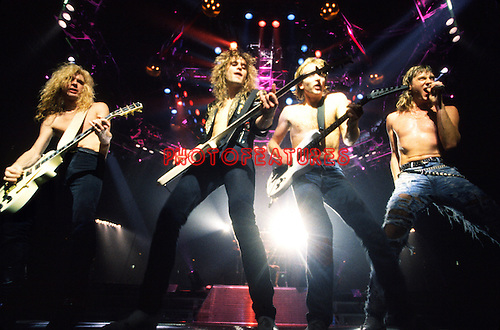 Def Leppard 1988 Steve Clark, Rick Savage, Phil Collen and Joe Elliott.© Chris Walter.