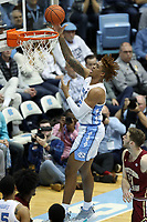 CHAPEL HILL, NC - FEBRUARY 1: Armando Bacot #5 of the University of North Carolina shoots the ball during a game between Boston College and North Carolina at Dean E. Smith Center on February 1, 2020 in Chapel Hill, North Carolina.
