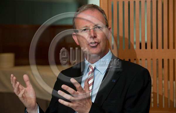 Brussels-Belgium - June 14, 2011 -- MEP Axel  VOSS (EPP/DE, CDU) from Germany, member of the Group of the European People's Party (Christian Democrats) in the European Parliament, i.a. member of the Committee on Civil Liberties, Justice and Home Affairs, rapporteur on data protection, during a press briefing in the EP -- Photo: Horst Wagner / eup-images