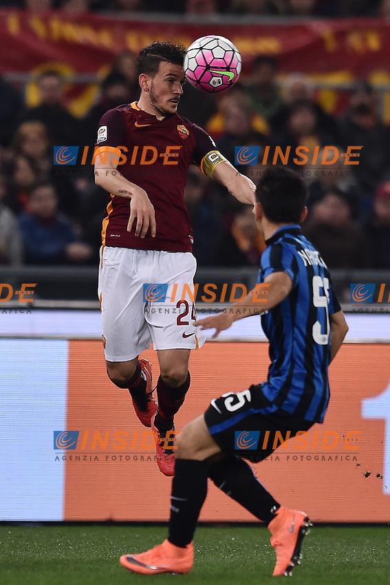 Alessandro Florenzi Roma, Yuto Nagatomo Inter.<br /> Roma 19-03-2016  Stadio Olimpico<br /> Campionato Serie A,<br /> AS Roma -Inter<br /> Foto Antonietta Baldassarre / Insidefoto