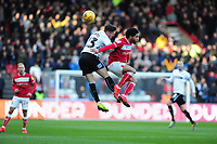 Connor Roberts of Swansea City battles with Jay Dasilva of Bristol City during the Sky Bet Championship match between Bristol City and Swansea City at Ashton Gate in Bristol, England, UK. Monday 02 February 2019