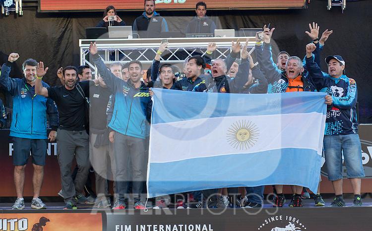 Argentina enduro team during the presentation of the FIM international six days of enduro 2016 in Pamplona, Spain. October 09, 2016. (ALTERPHOTOS/Rodrigo Jimenez)
