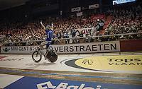 victory celebration for Kenny De Ketele (BEL/TopsportVlaanderen-Baloise)<br /> <br /> 2016 Gent 6<br /> day 6