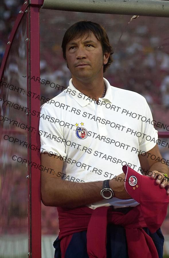 SPORT FUDBAL CRVENA ZVEZDA RAD TRENING UTAKMICA  Valter Zenga avgust 2005. foto: Pedja Milosavljevic<br />