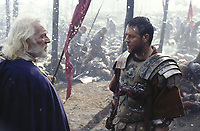 Gladiator (2000)<br /> Russell Crowe &amp; Richard Harris<br /> *Filmstill - Editorial Use Only*<br /> CAP/KFS<br /> Image supplied by Capital Pictures
