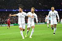celebration des joueurs du PSG apres le goal de Juan Bernat (PSG) <br /> Parigi 28-11-2018 <br /> Paris Saint Germain - Liverpool Champions League 2018/2019<br /> Foto JB Autissier / Panoramic / Insidefoto <br /> ITALY ONLY