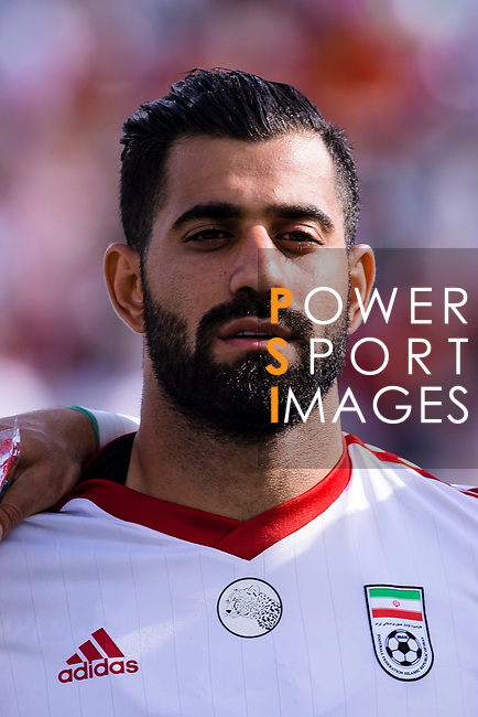 Mohammadhossein Kanani Zadeghan of Iran prior to the AFC Asian Cup UAE 2019 Group D match between Vietnam (VIE) and I.R. Iran (IRN) at Al Nahyan Stadium on 12 January 2019 in Abu Dhabi, United Arab Emirates. Photo by Marcio Rodrigo Machado / Power Sport Images