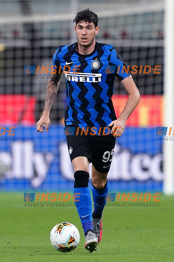 Alessandro Bastoni of FC Internazionale in action during the Serie A football match between FC Internazionale and SSC Napoli at San Siro stadium in Milano (Italy), July 28th, 2020. Play resumes behind closed doors following the outbreak of the coronavirus disease. Photo Marco Canoniero / Insidefoto