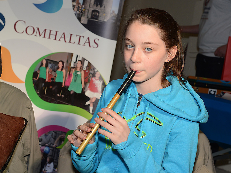 Kerryanne McArdle performing on Laurence street for the visit of Fleadh Ceol Ard Comhairle to assess Drogheda in its bid to host the Fleadh Ceol 2015. Photo:Colin Bell/pressphotos.ie