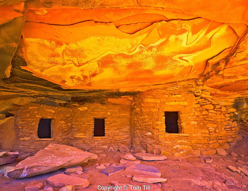 Ruin on Cedar Mesa in Summer Afternoon Light, San Juan Anasazi Proposed Wilderness, Utah