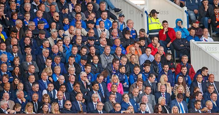 01.09.2019 Rangers v Celtic: Rangers fans and players