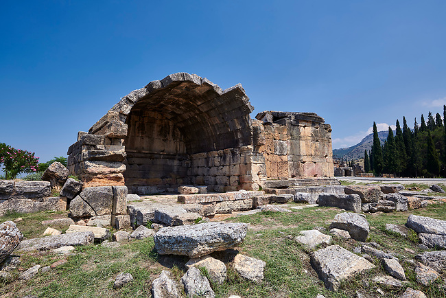 Picture of a Tomb  North Necropolis. Hierapolis archaeological site near Pamukkale in Turkey.