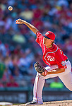 7 September 2014: Washington Nationals pitcher Tyler Clippard on the mound against the Philadelphia Phillies at Nationals Park in Washington, DC. The Nationals defeated the Phillies 3-2 to salvage the final game of their 3-game series. Mandatory Credit: Ed Wolfstein Photo *** RAW (NEF) Image File Available ***