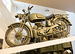 BSA M20 motorbike, REME museum, MOD Lyneham, Wiltshire, England, UK