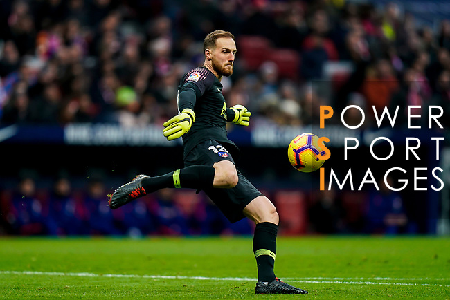 Goalkeeper Jan Oblak of Atletico de Madrid in action during the La Liga 2018-19 match between Atletico de Madrid and RCD Espanyol at Wanda Metropolitano on December 22 2018 in Madrid, Spain. Photo by Diego Souto / Power Sport Images