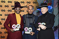 Billy Porter, Lewis Hamilton and Marius Müller-Westernhagen at the 21st presentation of the GQ Men of the Year Awards 2019 at the Komische Oper. Berlin, November 7, .2019. Credit: Action Press/MediaPunch ***FOR USA ONLY***