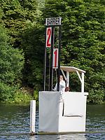 Henley Royal Regatta, Henley on Thames, Oxfordshire, 28 June - 2 July 2017.  Friday  09:34:32   30/06/2017  [Mandatory Credit/Intersport Images]<br /> <br /> Rowing, Henley Reach, Henley Royal Regatta.<br /> <br /> The Barrier Signal Box