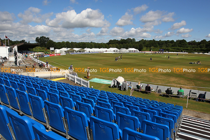 General view of the Nevill Ground ahead of play on Day One