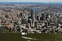 aerial photograph One World Trade Center and vicinity, Manhattan, New York City
