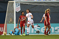 San Diego, CA - Sunday January 21, 2018: Nadia Nadim prior to an international friendly between the women's national teams of the United States (USA) and Denmark (DEN) at SDCCU Stadium.